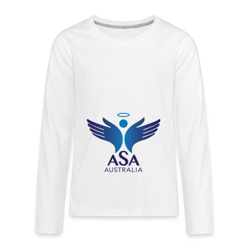 3459 Angelman Logo AUSTRALIA FA CMYK - Kids' Premium Long Sleeve T-Shirt