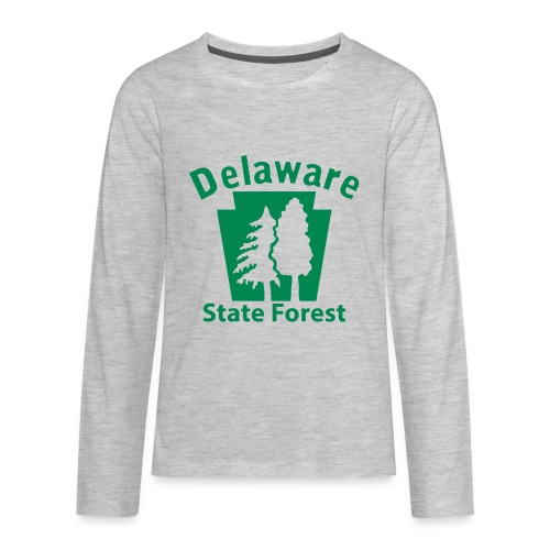 Delaware State Forest Keystone (w/trees) - Kids' Premium Long Sleeve T-Shirt