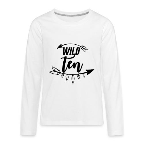 Wild One/10th Birthday Shirt/Outfit - Kids' Premium Long Sleeve T-Shirt