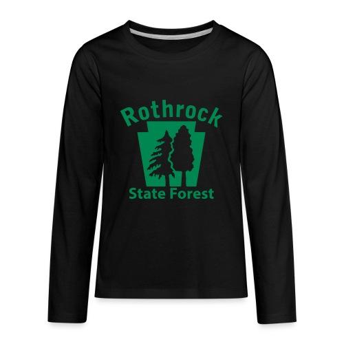 Rothrock State Forest Keystone (w/trees) - Kids' Premium Long Sleeve T-Shirt