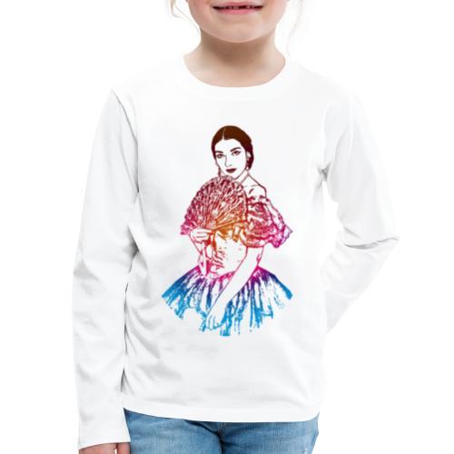 La traviata: Maria Callas as Violetta Valéry - Kids' Premium Long Sleeve T-Shirt