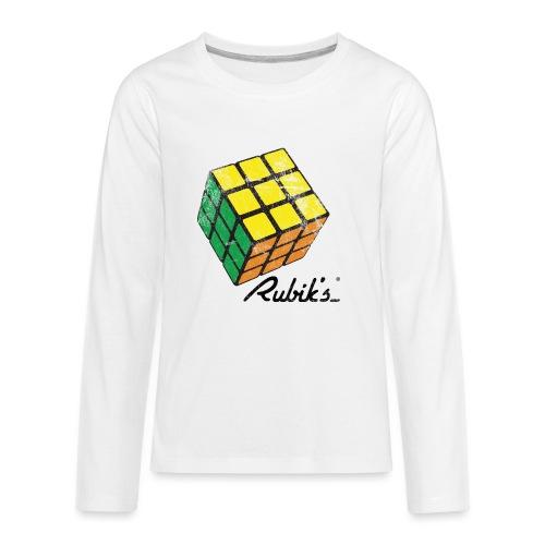 Rubik's Cube Solved Colourful Vintage - Kids' Premium Long Sleeve T-Shirt