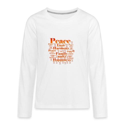 PEACE LOVE HARMONY - Kids' Premium Long Sleeve T-Shirt