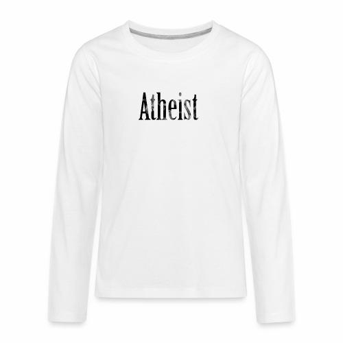 Faded Atheist - Kids' Premium Long Sleeve T-Shirt