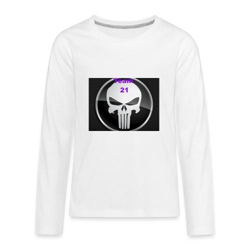 Team 21 white - Kids' Premium Long Sleeve T-Shirt