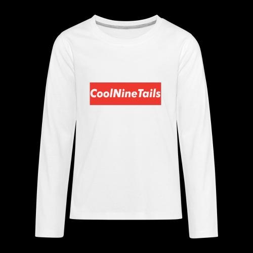 CoolNineTails supreme logo - Kids' Premium Long Sleeve T-Shirt