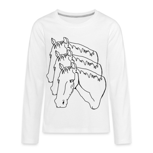 horsey pants - Kids' Premium Long Sleeve T-Shirt