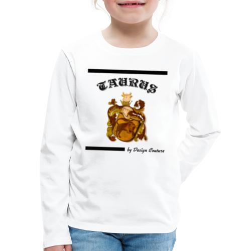 TAURUS BLACK - Kids' Premium Long Sleeve T-Shirt