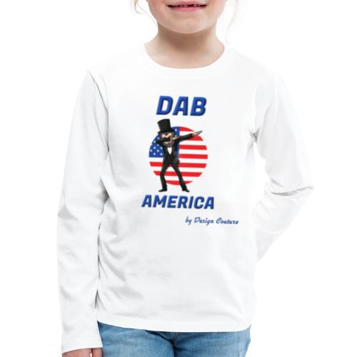 DAB AMERICA BLUE - Kids' Premium Long Sleeve T-Shirt