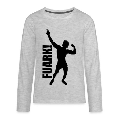 Zyzz Silhouette FUARK - Kids' Premium Long Sleeve T-Shirt