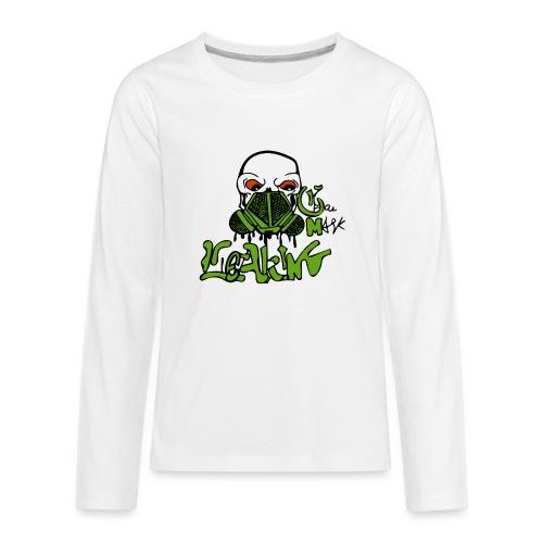 Leaking Gas Mask - Kids' Premium Long Sleeve T-Shirt