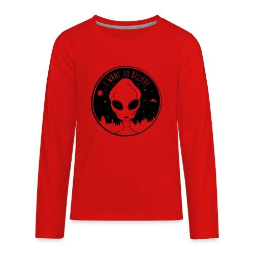I Want To Believe - Kids' Premium Long Sleeve T-Shirt