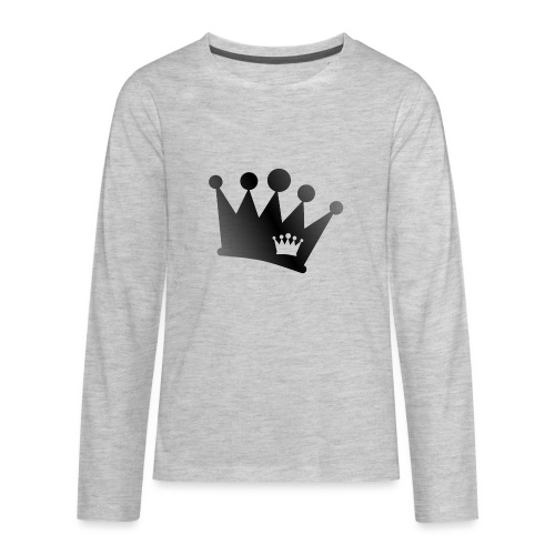Double Crown black - Kids' Premium Long Sleeve T-Shirt