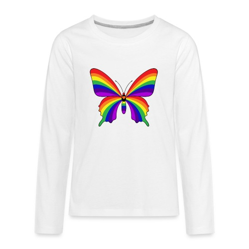 Rainbow Butterfly - Kids' Premium Long Sleeve T-Shirt