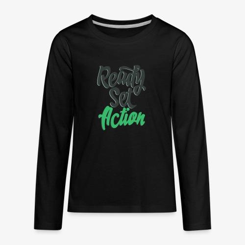 Ready.Set.Action! - Kids' Premium Long Sleeve T-Shirt