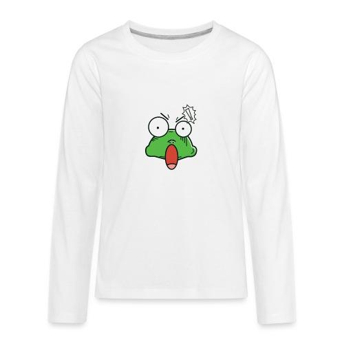 Frog with amazed face expression - Kids' Premium Long Sleeve T-Shirt