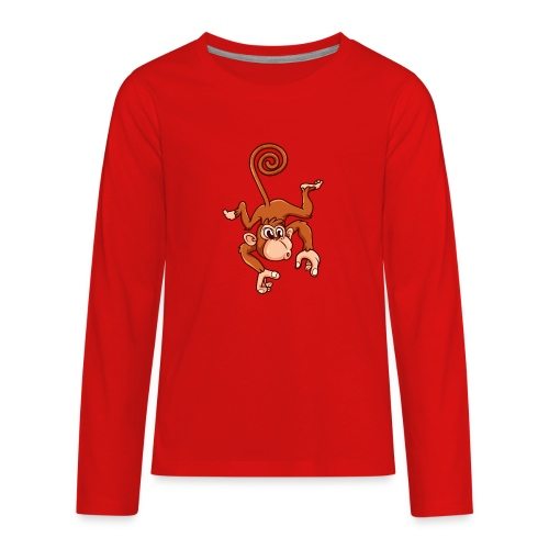 Cheeky Monkey - Kids' Premium Long Sleeve T-Shirt