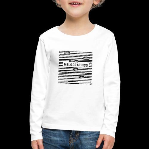 MELOGRAPHICS | Blackout Poem - Kids' Premium Long Sleeve T-Shirt