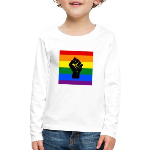 BLM Pride Rainbow Black Lives Matter - Kids' Premium Long Sleeve T-Shirt