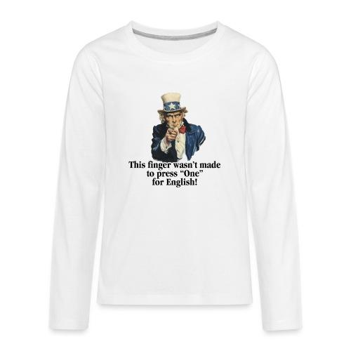 Uncle Sam - Finger - Kids' Premium Long Sleeve T-Shirt