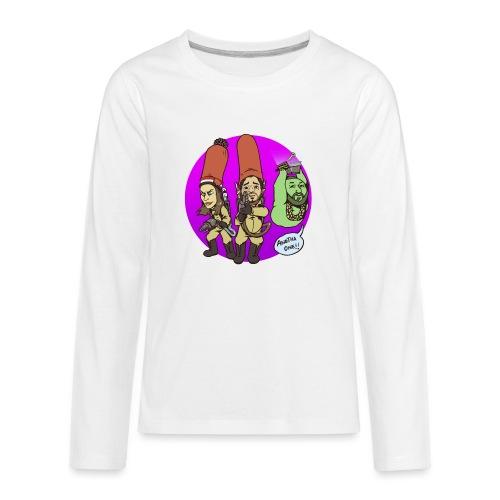 memebusters anotha one purple - Kids' Premium Long Sleeve T-Shirt