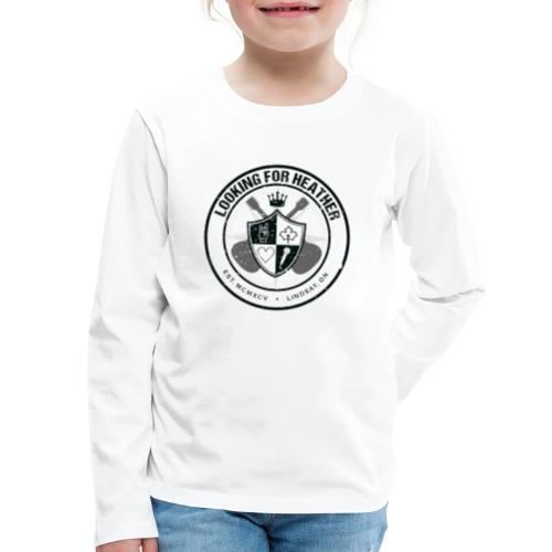 Looking For Heather - Crest Logo - Kids' Premium Long Sleeve T-Shirt