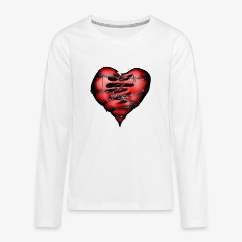 Chains Heart Ceramic Mug - Kids' Premium Long Sleeve T-Shirt