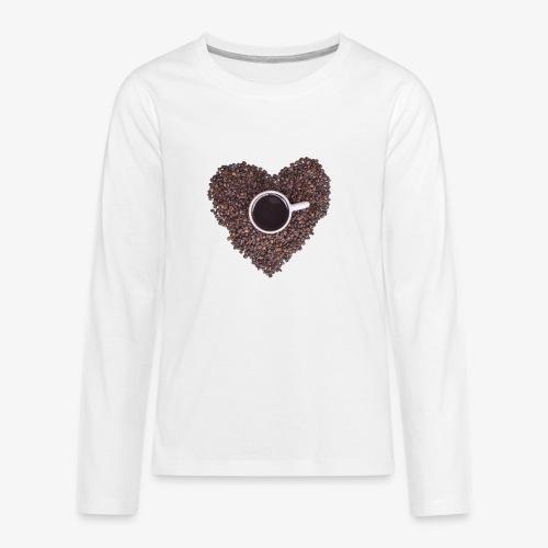 I Heart Coffee Black/White Mug - Kids' Premium Long Sleeve T-Shirt