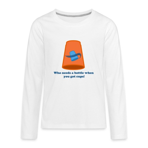 Sport Stacking - No Bottles - Kids' Premium Long Sleeve T-Shirt