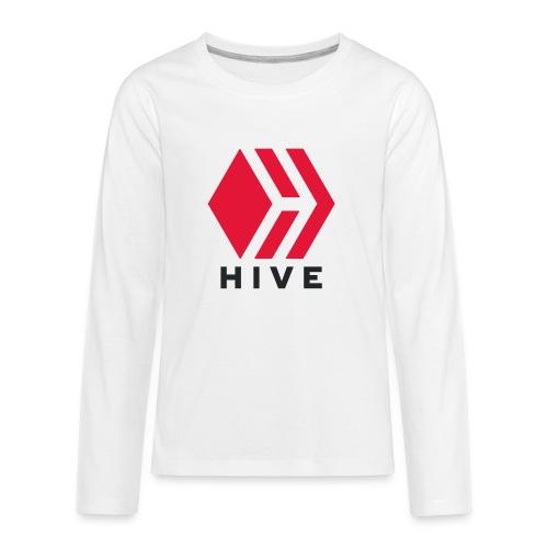 Hive Text - Kids' Premium Long Sleeve T-Shirt