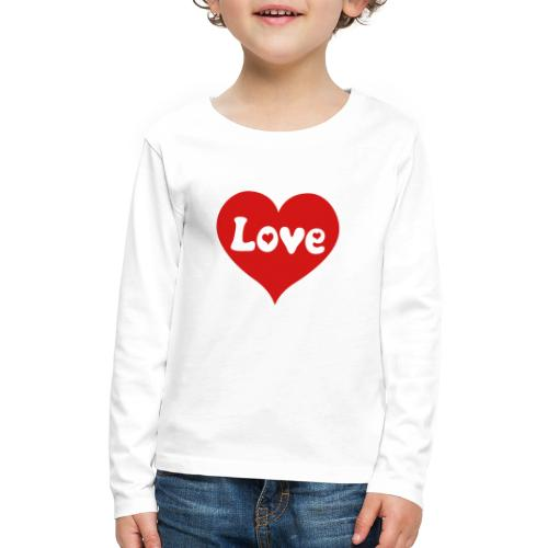Love Heart - Kids' Premium Long Sleeve T-Shirt