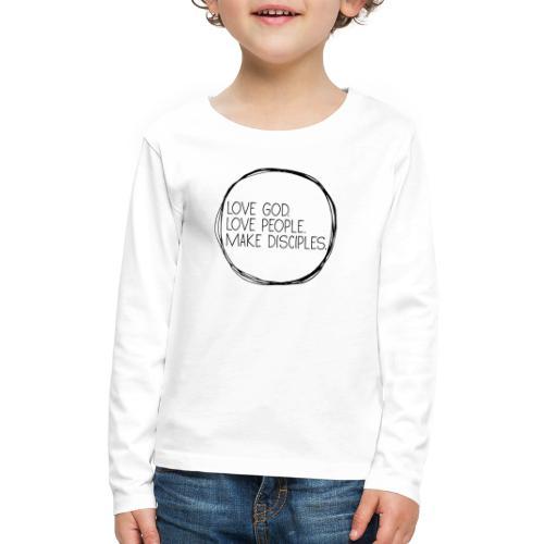Scribble Circle Mission - Kids' Premium Long Sleeve T-Shirt
