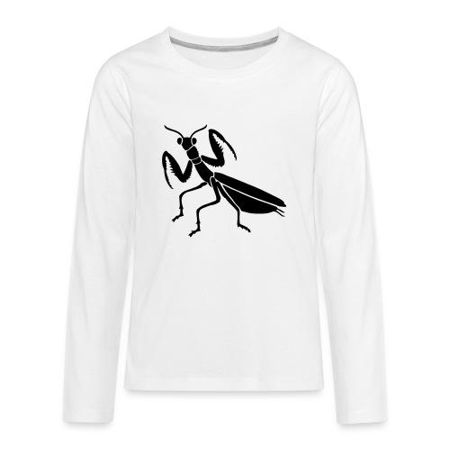 praying mantis bug insect - Kids' Premium Long Sleeve T-Shirt