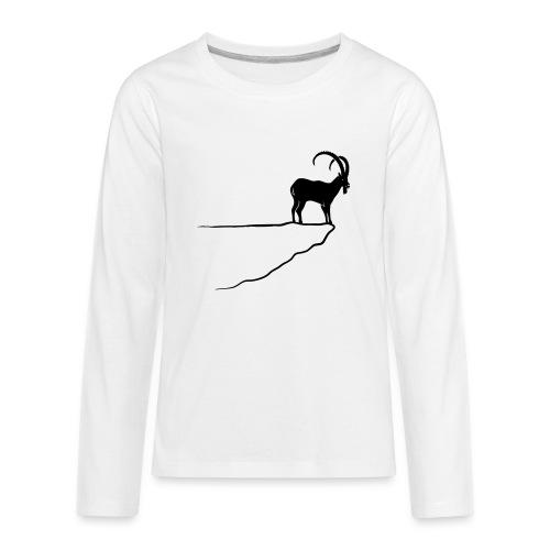 ibex capricorn mountain goat sheep rock climbing - Kids' Premium Long Sleeve T-Shirt