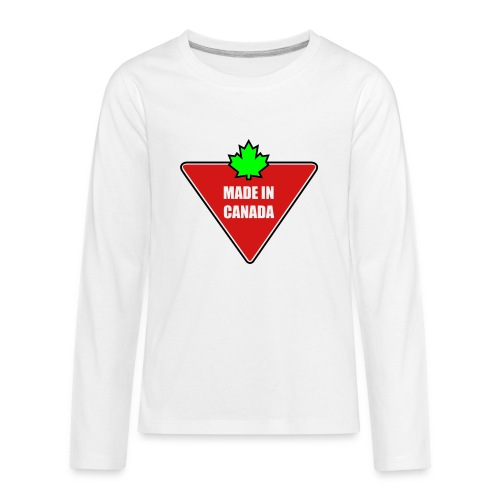 Made in Canada Tire - Kids' Premium Long Sleeve T-Shirt