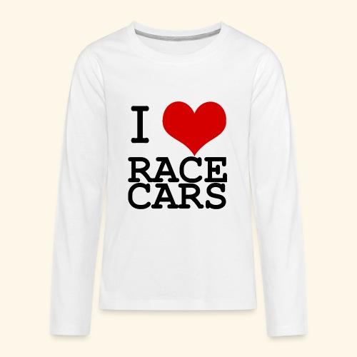I Love Race Cars - Kids' Premium Long Sleeve T-Shirt
