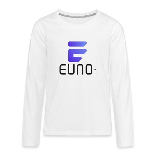 EUNO LOGO POTRAIT BLACK FONT - Kids' Premium Long Sleeve T-Shirt