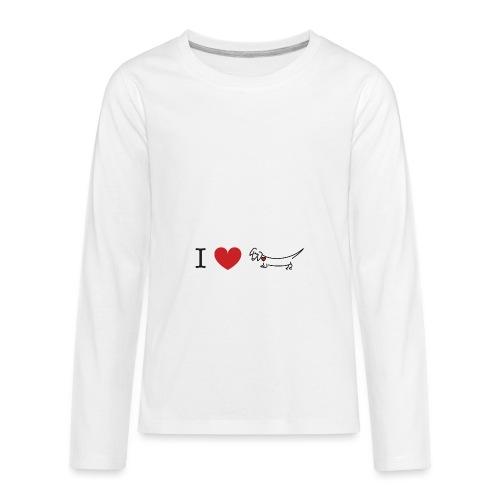 I love Dachshund - Kids' Premium Long Sleeve T-Shirt