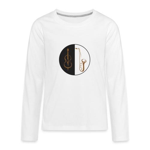 double bass sax - Kids' Premium Long Sleeve T-Shirt