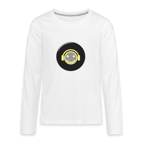 music happy face record - Kids' Premium Long Sleeve T-Shirt