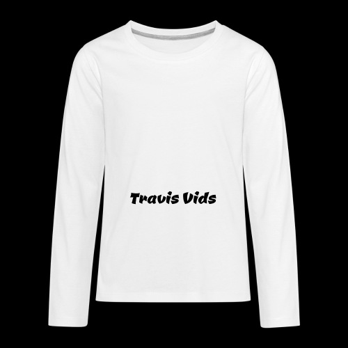 White shirt - Kids' Premium Long Sleeve T-Shirt