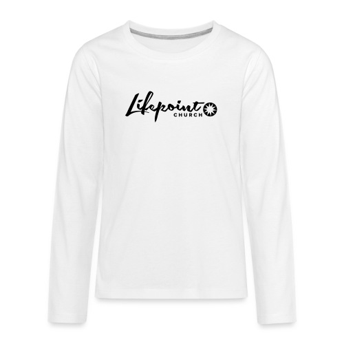 Logo Horizontal Black - Kids' Premium Long Sleeve T-Shirt