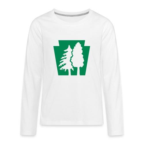 PA Keystone w/trees - Kids' Premium Long Sleeve T-Shirt