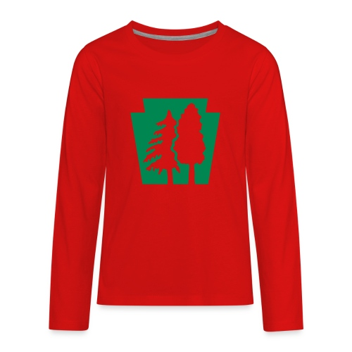 PA Keystone w/trees - Kids' Premium Long Sleeve T-Shirt