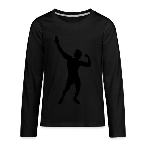 Zyzz Silhouette vector - Kids' Premium Long Sleeve T-Shirt