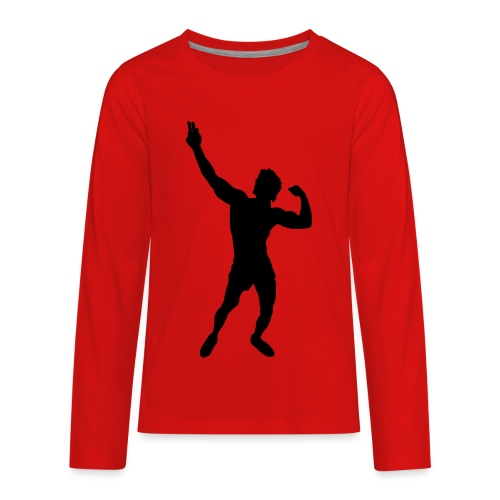 Zyzz Silhouette vector - Kids' Premium Long Sleeve T-Shirt