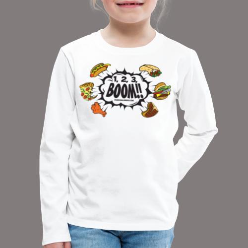 123_BOOM_FINAL Spreadshir - Kids' Premium Long Sleeve T-Shirt