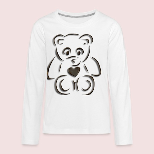 realistic teddy - Kids' Premium Long Sleeve T-Shirt