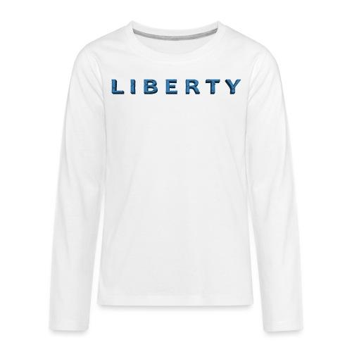 Liberty Libertarian Design - Kids' Premium Long Sleeve T-Shirt