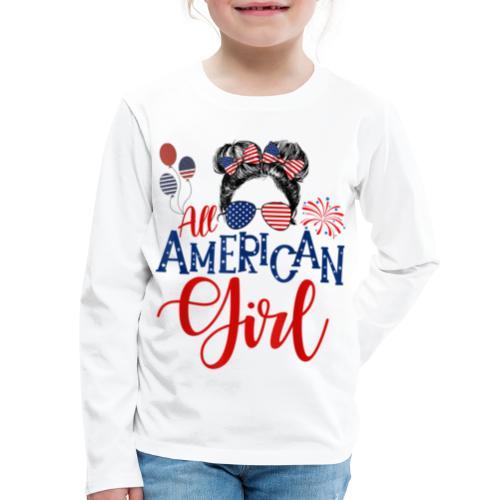 All American Girl - Kids' Premium Long Sleeve T-Shirt